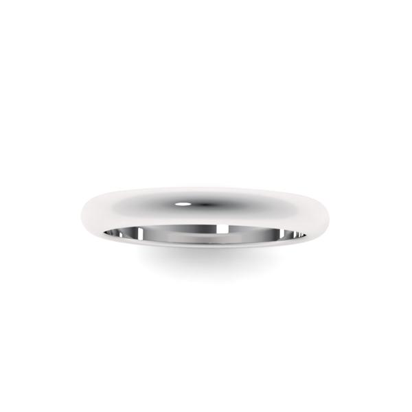 Классическое обручальное кольцо из платины wc-1-1