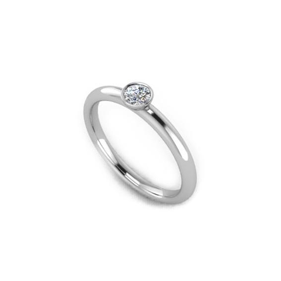 Помолвочное кольцо c , бриллиантом 0,16 карат Beautiful day 1