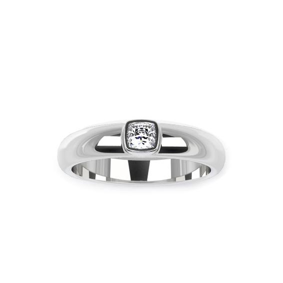 Помолвочное кольцо из платины с бриллиантом принцесса купить Alisa-art 39741e0e0b6