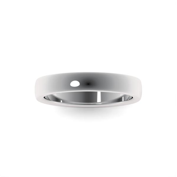 Классическое обручальное кольцо платина Alisa art