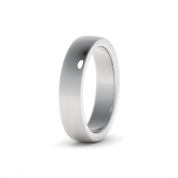 Классическое обручальное кольцо из платины на заказ в Москве