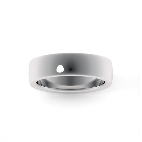 Классическое обручальное кольцо из платины купить он лайн