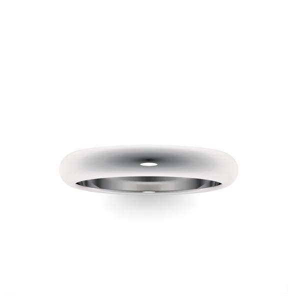 Классическое обручальное кольцо из платины 3,5 мм wc-2