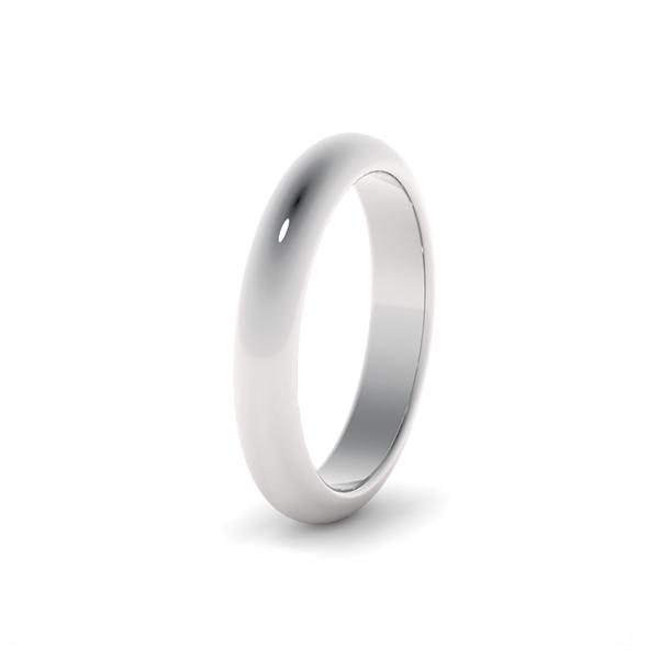 Классическое обручальное кольцо из платины 3,5 мм (wc-2-2