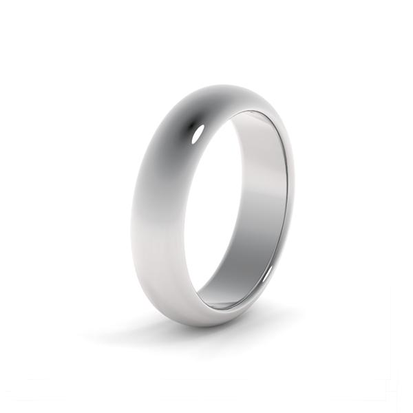Классическое обручальное кольцо из платины на заказ wc-4-2