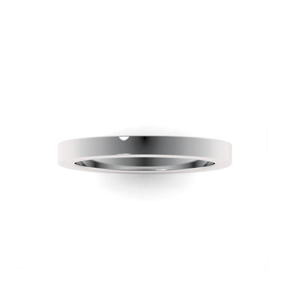 Обручальные кольца из платины 950 пробы шириной 2,5 мм с плоским профилем на заказ wc-5-1