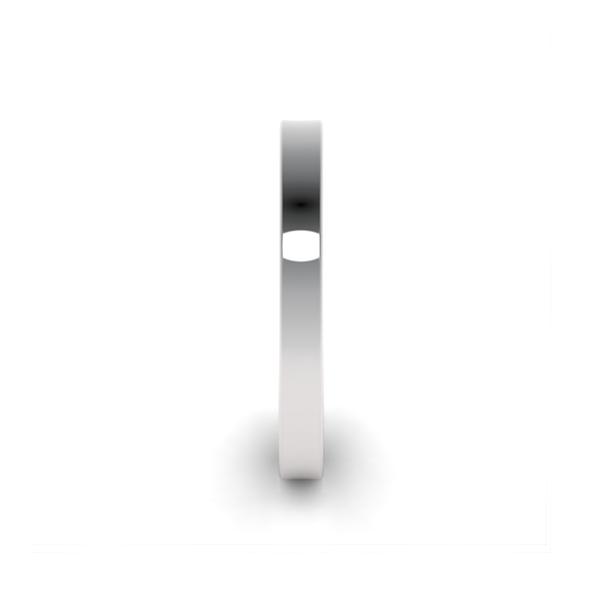 Обручальные кольца из платины 950 пробы шириной 2,5 мм с плоским профилем на заказ wc-5-3