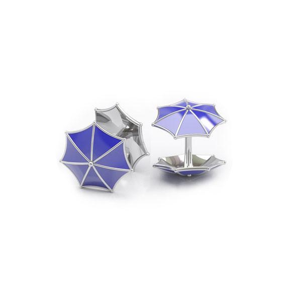 Дизайнерские запонки с эмалью зонтики фото