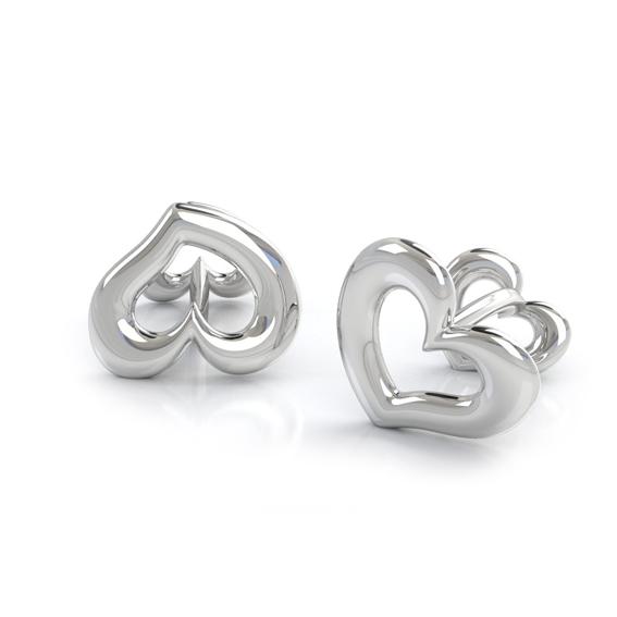 Женские запонки в виде сердец фото-1